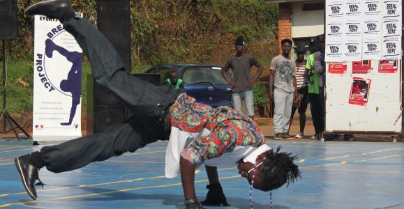 Breakdance event i Kampala ved Breakdance Project Uganda. Foto af Lisbeth Kristine Olesen