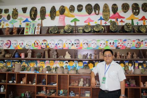 Kunsthåndværk på Xindonfangskolen i Yangzhou